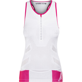 Compressport TR3 Ultra Top sin Mangas de Triatlón Mujer, white